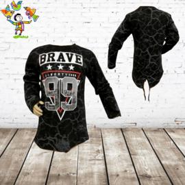 Jongens longsleeve Brave 99 zwart 98/104
