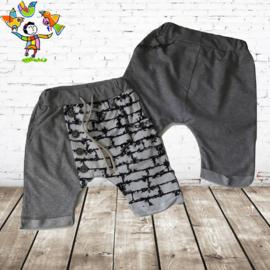 Jongens short ketting grijs 14