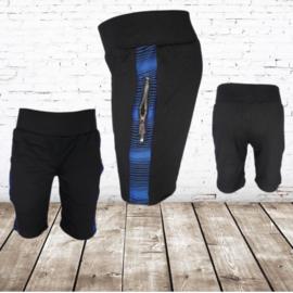 Korte broek jongens zwart blauw