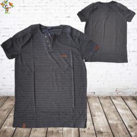 Zwart heren tshirt met streep 3XL