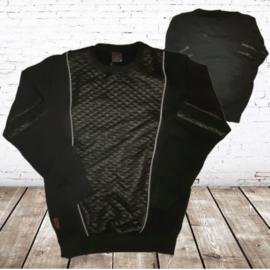 Stoere zwarte heren sweater