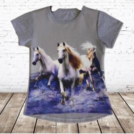 T-shirt met paard grijs