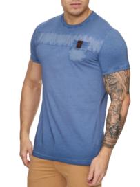 Heren t-shirt violento zak blauw 3XL