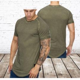 Heren t shirt groen 9012