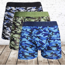 Boxershort heren Grand man army 3 pak 5043