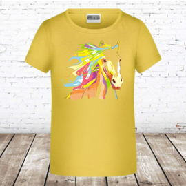 Geel t shirt met paard