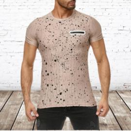Heren shirt Spots creme