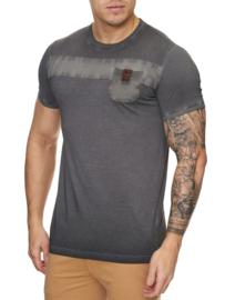Heren t-shirt violento zak bruin 3XL