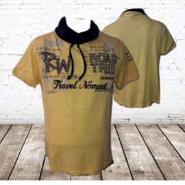 Italiaans shirt Road trip geel