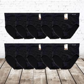 Hoge taille naadloze Dames Slips 10 Pack zwart