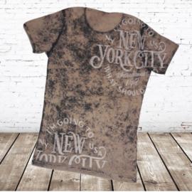 Heren shirt New York beige