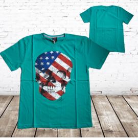 Heren t-shirt Skull groen