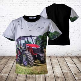 T-shirt met Case trekker H114