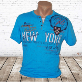 Heren shirt New York blauw