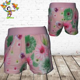 short bloem zacht roze  98/104