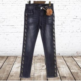 Meisjes jeans met streep