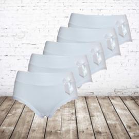 Fine Woman witte Dames slips  5-pak