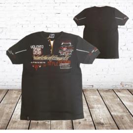 T-shirt Violento style grijs