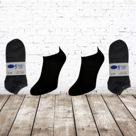 Naft sneaker sokken zwart 10-pak