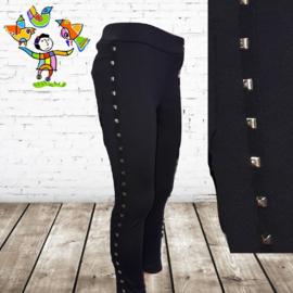 Meisjes legging studs zwart 110/116