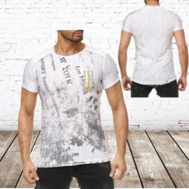 Heren t-shirt Modern wit