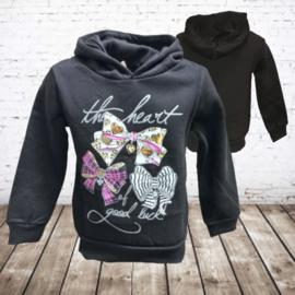 Papillon Meisjes trui heart zwart