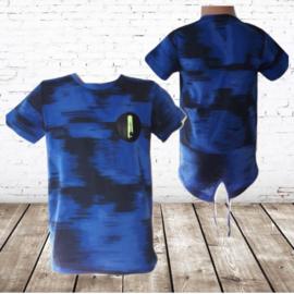 Jongens T-shirt S&C  blauw M132
