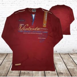 Longsleeve Violento Bordeaux rood