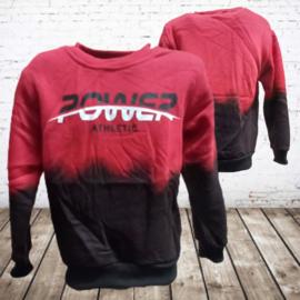 Kinder trui power rood/zwart