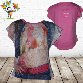 T-shirt vrouw roze 110/116