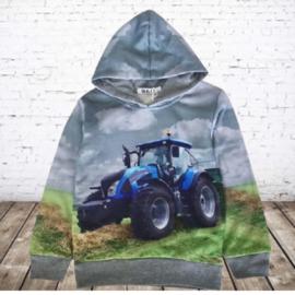 Grijze hoodie met trekker h132A