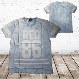 Heren t-shirt 86 blauw
