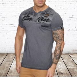T-shirt camp vlnt bruin effen