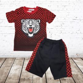 Kleding set tijger rood zwart