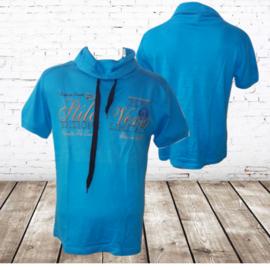 t-shirt met kraag Stilo verso blauw