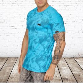 heren shirt blauw