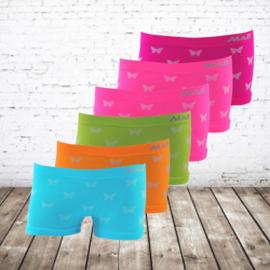 Meisjes boxershorts vlinders felle kleurtjes 6-pack