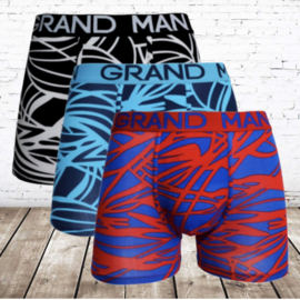 Boxershorts heren Grand man art streep 3-pak