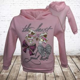 Papillon Meisjes trui heart roze
