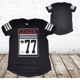 T-shirt League zwart