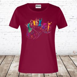 Meisjes T-shirt dance bordeaux
