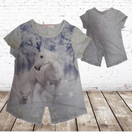 Grijs shirt met paard 86/92