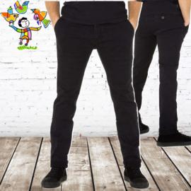 Zwarte stretch mannen jeans