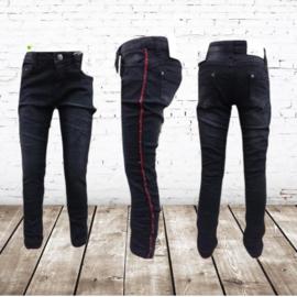Spijkerbroek streep zwart