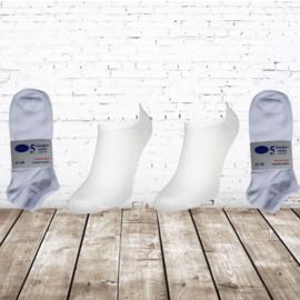 Naft  sneaker sokken wit 10-paar