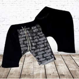 Short met  ketting zwart 98/104