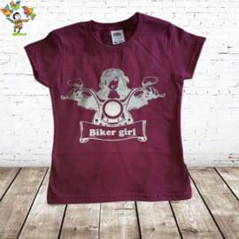 T-shirt Biker Girl aubergine