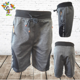 Short jongens donker grijs 98/104