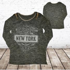 Meisjes trui New York  grijs 170/176