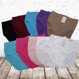 Hoge taille naadloze Dames Slips 10 Pack kleur